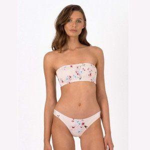 Peony Smocked Bandeau Bikini - Australian 10, US 6